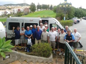 malaga minibus golf transfer